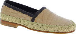 Dolceandgabbana Menand039s Fashion Loafers Shoes In Beige Purple Crocodile Leather