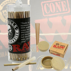 Raw Classic King Size Authentic Pre-rolled Cones50 Pack+ Raw Magnetic Stash Jar