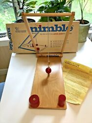 Vintage 1970s Childcraft Nible Wooden Dexterity Game Toy For School Educational