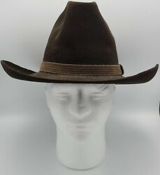 Vintage Stetson Cowboy Hat 7 Long Oval Chocolate Brown - Draperand039s Western Store