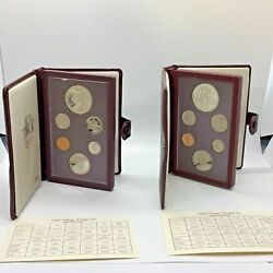 1983 S And 1984 S Us Mint Olympic Prestige Proof Set 90 Silver With Coa And Boxes
