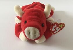 Ty Beanie Babies Snort The Red Bull Tush Tag Pencil Stamp Retired