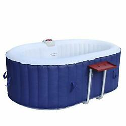 Aleko Htio2bld Oval Inflatable Hot Tub Spa With Drink Tray And Cover, 2 Person P