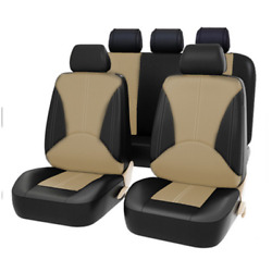 9pcs Pu Leather Car Seat Cover Set Interior Cars Accessories Seat Protect Parts