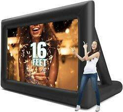 16ft Inflatable Movie Projector Screen Projection Outdoor Home Theater W.blower