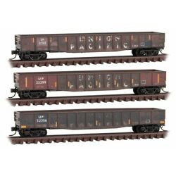 Micro Trains 993 05 890 Union Pacific Weathered Gondola 3 Pack - New