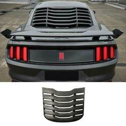 For Ford Mustang 2015-2021 Mmd Matte Black Rear Vent Window Louver Cover Trim