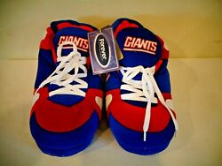Nfl New York Giants Plush Sneaker Style Slippers New Old Stock Size S