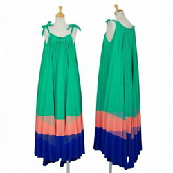 Issey Miyake Tricolour Pleated Dress Green And Others 6f208