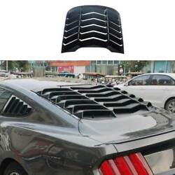 For Ford Mustang 2015-2021 Sport Matte Black Rear Vent Window Louver Cover Trim