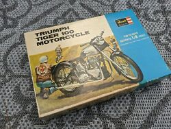 1964 Triumph Tiger 100 Motorcycle Model Kit By Revell 1/8 Mint In Box Original