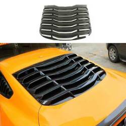 For Ford Mustang 2015-2021 Mmd Gloss Black Rear Vent Window Louver Cover Trim