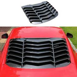For Ford Mustang 2015-2021 Sport Carbon Fiber Rear Vent Window Louver Cover Trim