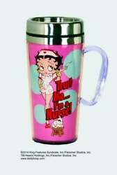 Spoontiques Betty Boop Nurse Insulated Travel Mug, 14 Ounces, Pink