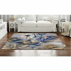 Blue And Gold Flower Area Rug Blue And Gold Area Rug Blue And White Rug Flora
