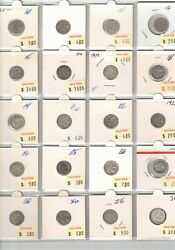1910 To 1964 Australia 3d Collection 49 Coins, Fine To Unc, Clearance