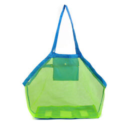 Mesh Beach Bag Extra Large Beach Bags Totes Tote Backpack Toys Towels Sand Awa $9.49