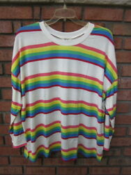 New 54.50 Tags Nwt Style And Co Lightweight Soft And Silky Stripe Knit Top 2x 3x 4x