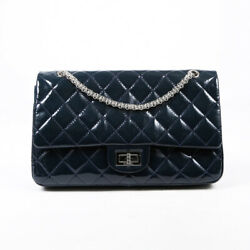 2.55 Reissue 227 Shoulder Bag Blue Quilted Patent Leather