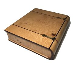 Bombay Company Hollow Book Shaped Large Wooden Memory Box 1995