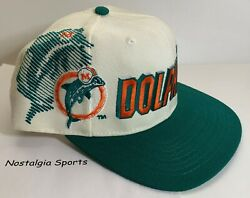 Vintage 90s Miami Dolphins Sports Specialties Snapback Hat Shadow New Oldstock