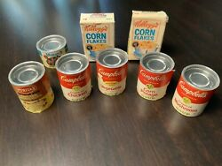 1960's Vintage Toy Campell's Soup Cans And Corn Flakes Boxes