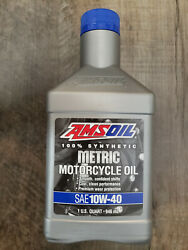 Amsoil Mcfqt 10w-40 Metric Motorcycle 100 Synthetic Motor Oil