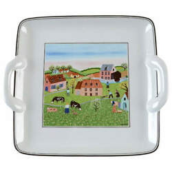 Villeroy And Boch Design Naif Square Handled Cake Plate 750348
