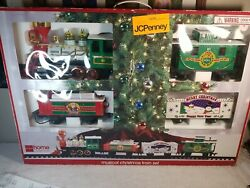 The Holiday Express Musical Christmas Train Set Vintage Great Condition.