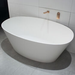 Ultra-smooth Freestanding Soaking Bathtub W/ Brass Drain And Stainless Overflow Us