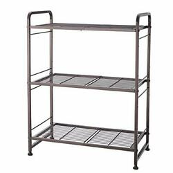 3-tier Stackable Wire Shelving Unit Storage Rack, Expandable And Bronze