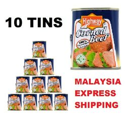 10 Tin Hot Selling Highway Corned Beef Ready Stock Malaysia Express Shipping