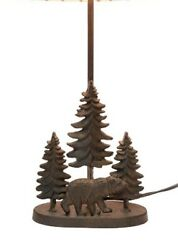 Scratch And Dent Cast Iron Bear In The Forest Table Lamp Base