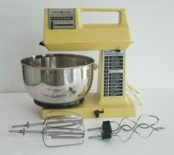 Vintage General Electric 12-speed Stand Mixer With Attachments Solid Slate Power
