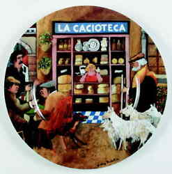 Guy Buffet Tuscan Storefronts Dinner Plate 5763409