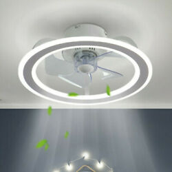 Modern Ceiling Fans Led Light Adjustable Wind Speed Dimmable Remote Control