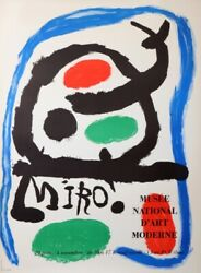 Miro Joan Miro Exposition Musee National D'art Moderne 1962 Vintage Poster