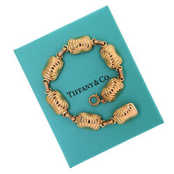 Authentic Vintage And Co. 14k Yellow Gold Shell Link Chain Bracelet 8