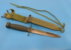 Post Wwii Vintage German U.s. Military M1 Carbine Bayonet With Scabbard Mint