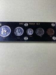 1952-silver Proof Set In A Black Acrylic Holder Very Nice Coins
