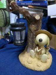 Kato Kogei Snoopy Woodstock Ornament Pottery Figure With Solar Lamp Limited Rare