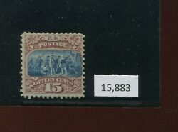118 Landing Columbus Unused Grill Stamp With Crowe Cert Stock 118 Cr A1