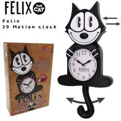 Felix The Cat - 3d Motion Animated Wall Clock