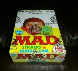 1983 Fleer Mad Magazine Stickers Unopened 36 Count Wax Pack Box Bbce Wrapped