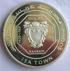 Bahrain 1983 Isa Town 500 Fils Silver Coinproof