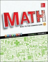 Glencoe Math Course 2 Student Edition Volume 2 By Mcgraw Hill Used