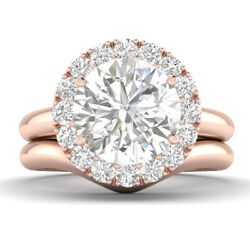 1.29ct D-si1 Diamond Unique Engagement Ring 18k Rose Gold Any Size