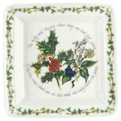 Portmeirion The Holly And The Ivy Square Salad Plate 6160016