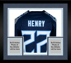 Framed Derrick Henry Tennessee Titans Autographed Navy Nike Game Jersey