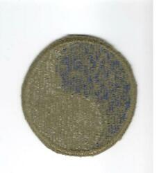 Rare Reversed Ww 2 Us Army 29th Infantry Division Patch Greenback Inv F966